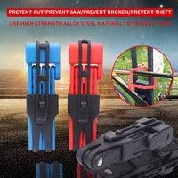 Portable Folding Bike Lock Metal Bicycle Security Chain Lock for Mountain Bike Motorbike ASD88