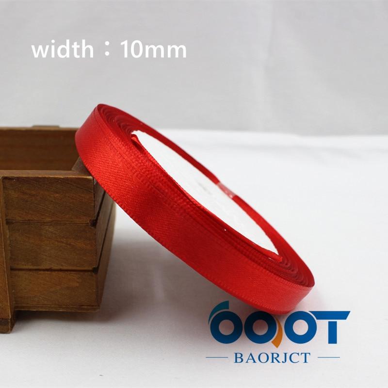 A-166910, 10 мм 31 цвет на выбор 25 ярдов шелковая атласная лента, свадебные декоративные ленты, подарочная упаковка, материалы ручной работы - Цвет: 026