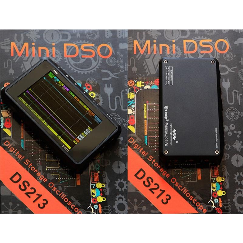 Mini DS213 Digital Oscilloscope ARM Nano Portable 15MHz Bandwidth 4 Channels Arm Cortex M3 CPU Osciloscopio