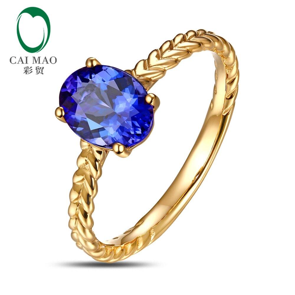 Справжнє 18K Золото 2.32ct Violetish Blue - Вишукані прикраси