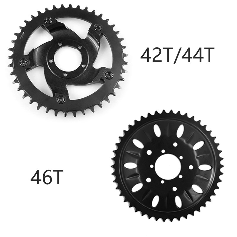 Banfang 46T Teeth Chain Wheel Ring Sprocket for BBS03 BBSHD Electric bike Mid Drive Motor Kit