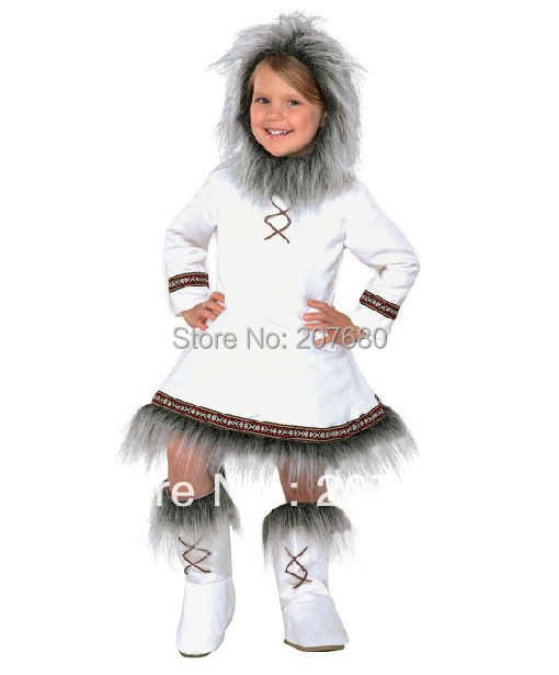 new Cosplay Clothes Eskimos Costumes for kids Fancy dress Halloween Party decorations Child performance wear