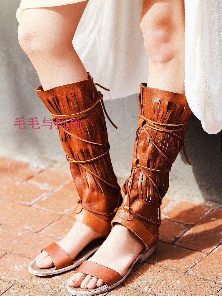 Online Get Cheap Cowboy Boot Sandals Aliexpress Com