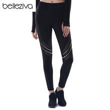 d43a4de88f3c8 Belleziva Leggings For Women Activewear Pants With Mesh High Waist Gym Pants  Activewear Yoga Pant Gym
