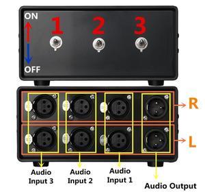 Image 5 - Nobsound סטריאו 3 דרכים אודיו אות XLR מאוזן קלט Switcher ממיר ספליטר Preamp משלוח חינם