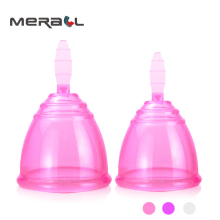 Купить 2pcs Women Menstrual Cup Size (L S) Anti-side leak Medical Grade Silicone Lady Period Cup Safety Feminine Hygiene copa Reusable в интернет-магазине дешево
