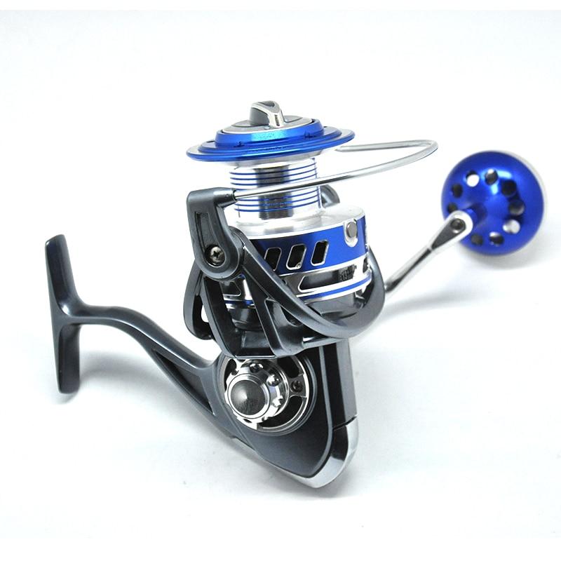 reais de pesca corpo de aluminio spinning reel fishing reel alta velocidade g ratio 4 7