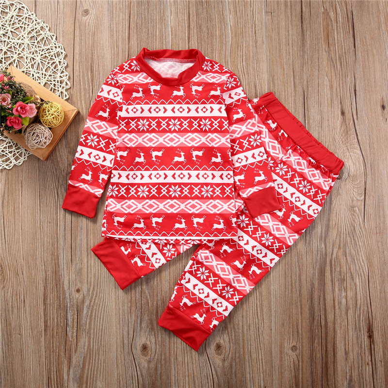 Семейный Рождественский пижамный комплект; Новинка года; Лидер продаж; Рождественская одежда для сна для мамы, папы и ребенка одежда для сна; домашняя одежда; Семейный комплект пижам