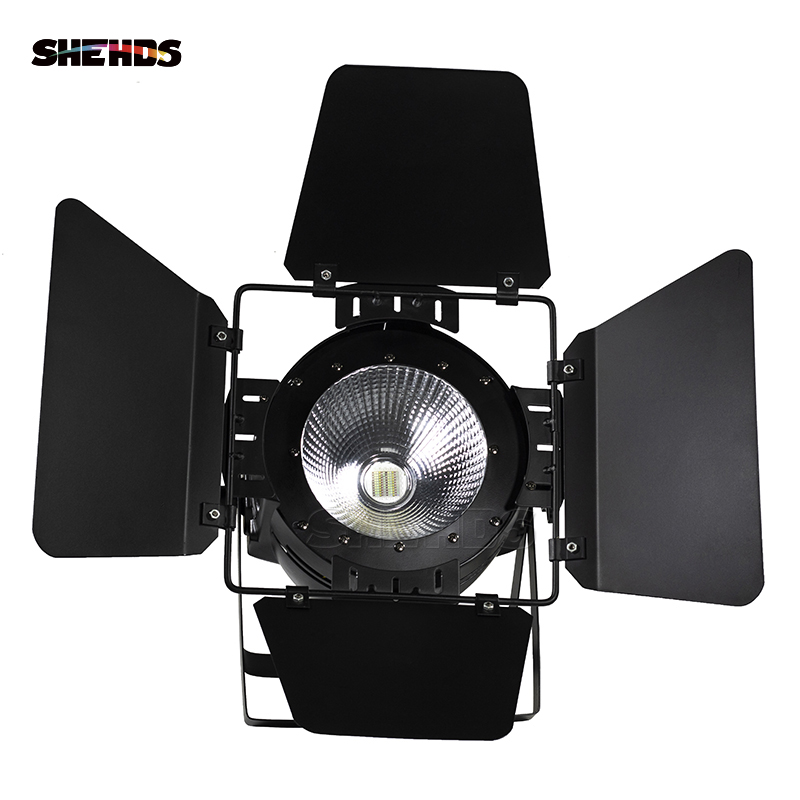 Image 2 - LED Par COB 200W With Barn Doors High Power Aluminium Case Stage Lighting With 200W COB RGBWA+UV 6in1 Cool White And Warm White-in Stage Lighting Effect from Lights & Lighting