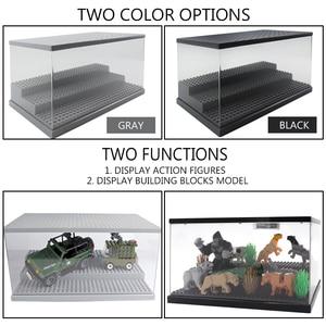 Image 2 - 3 pasos del USB de la luz LED acrílico a prueba de polvo de figuras de acción de caja Juguetes de bloques de construcción para niños
