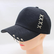 BING YUAN HAO XUAN New Arrival Snapback Cap High Quality Iron Hoop On The Viewer Solid Color Hat for Women Men Baseball