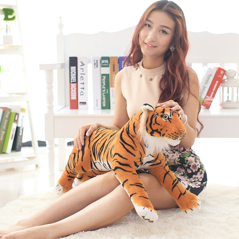 80CM Cartoon Tiger Plush Toys Cute artificial Tiger cloth doll animals doll Stuffed plush birthday gift for Chidlren