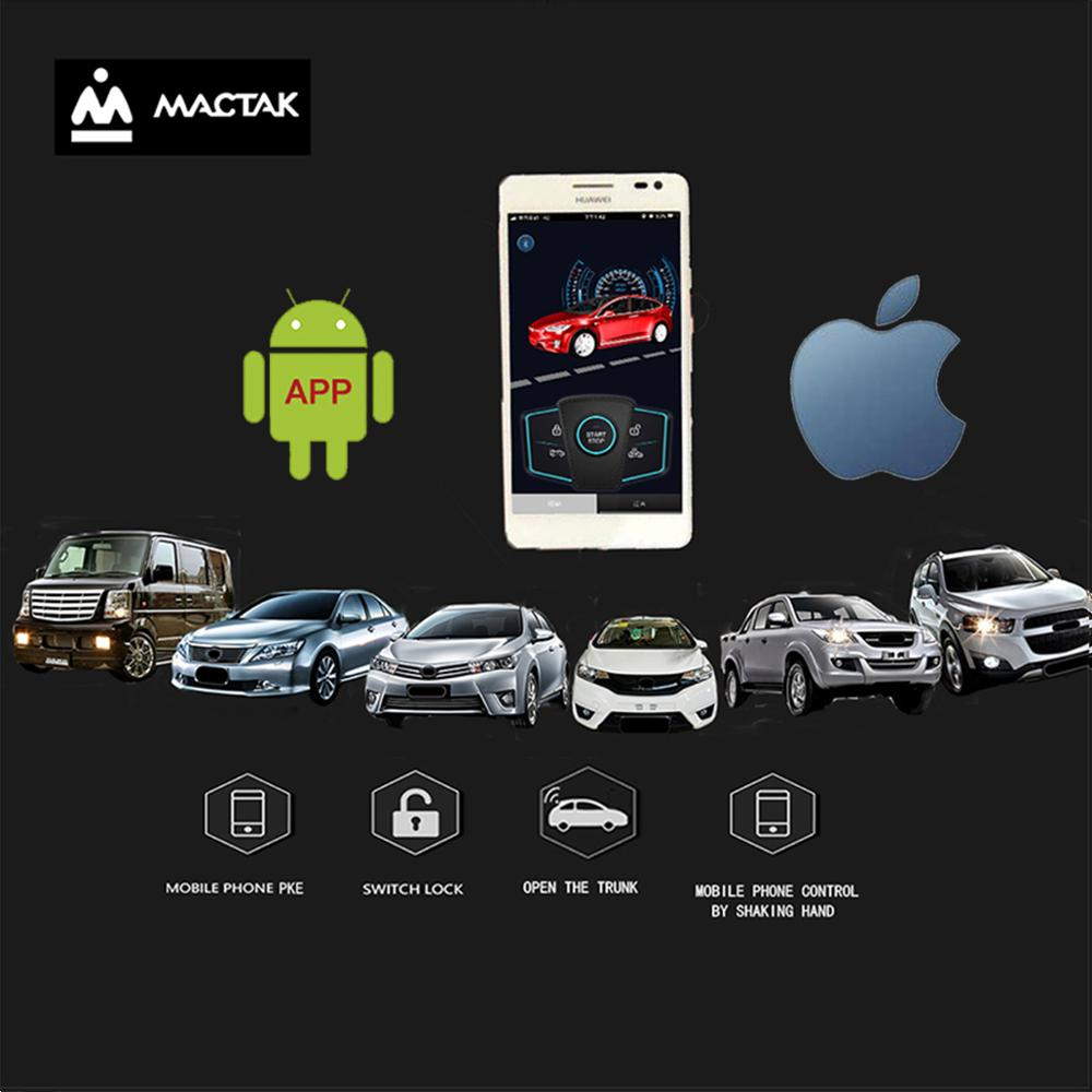 PKE Keyless Entry The Car By Ios And Android Mobile Phone With Remote And Bluetooth Control Close To The Lock/leave The Lock