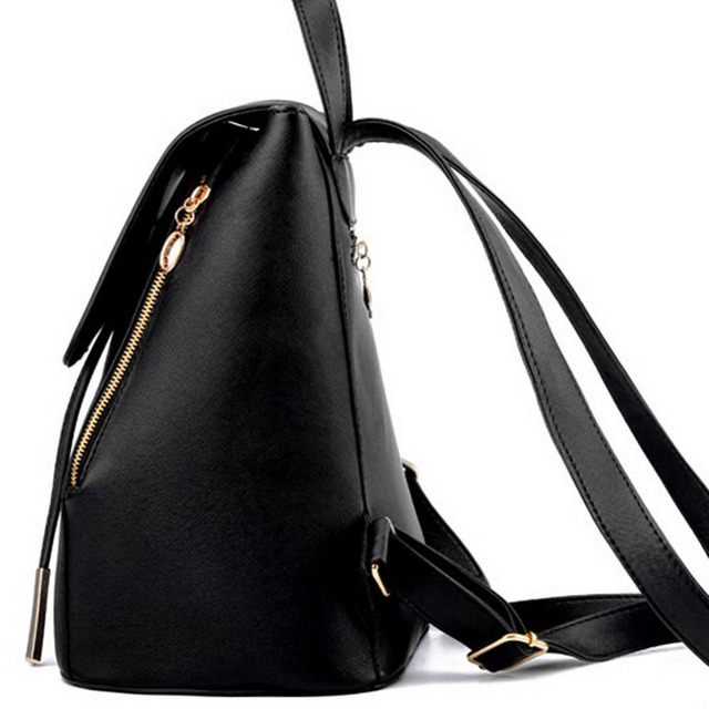 Women Pu Leather Female Backpacks 2