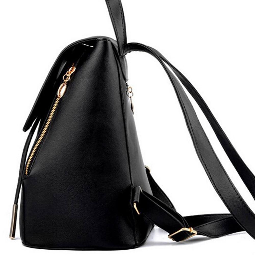 Backpack Women Pu Leather Female Backpacks Teenager School Bags Mochila Feminina Rucksack Mochilas Mujer #3