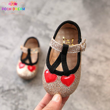 POSH DREAM 2018 Spring New Cherry Print Baby First Walker Shoes 0 - 2 Years  Gold Blue Bling Baby Toddler Shoes Spring Autumn 4ed65c86c153