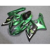 Candy Green w/ Black Injection Fairing Kit For 2004 2005 Suzuki GSXR 600 GSXR 750 GSX R 600 750
