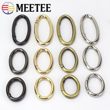5pcs Openable Oval Ring Clip Buckle Bag Garment Belt Strap Dog Chain Metal Spring Snap Clasp DIY Hardware Sewing Accessory F1-23 цена 2017