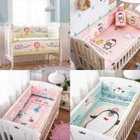 Customizable Washable Cotton Baby Bed Bumper Crib Anti collision Protection Baby Bed Surrounding Bed Baby Bedding Set