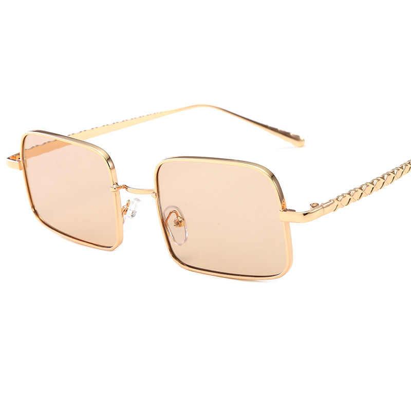 2019 w stylu Vintage mały hexagon okulary przeciwsłoneczne