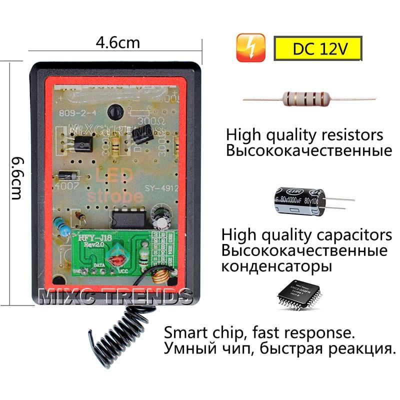 4X3LED DRL bežični daljinsko upravljani LED stroboskop svjetlo Bar - Svjetla automobila - Foto 4