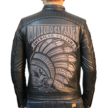 HARLEY DAMSON Black Men Skulls Embroidery Genuine Biker's Leather Jacket Plus Size XXXL Cowhide Short Riding Leather Coat(China)