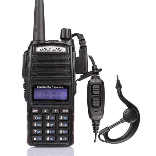Hot Portable Radio Walkie Talkie Baofeng UV-82 Med Hörlurar Knapp Radio Vhf Uhf Dubbel Band Baofeng UV 82 UV82 Tvåvägs Radio