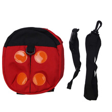 Multifunction Baby Walking Leashes Safety Harness with Backpack Function Ladybird Shape Baby Anti-lost Walking Wings Red