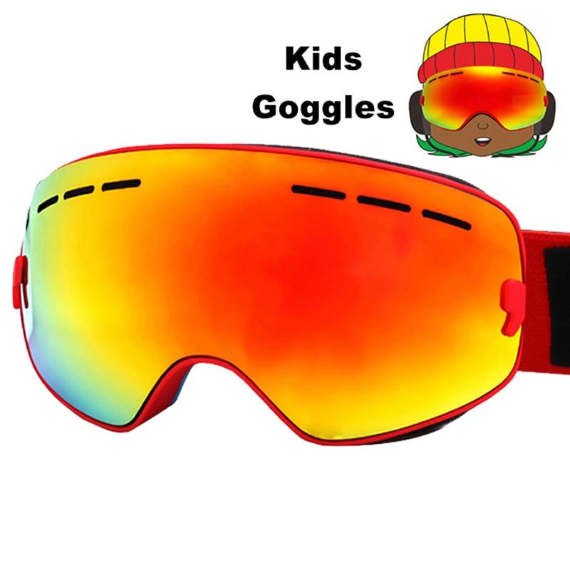 Children Ski Eyewear Anti-fog Double Lens Ski Goggles UV400 Ski Snowboard Skateboard Snow Goggles Ski Glasses 4-16Y