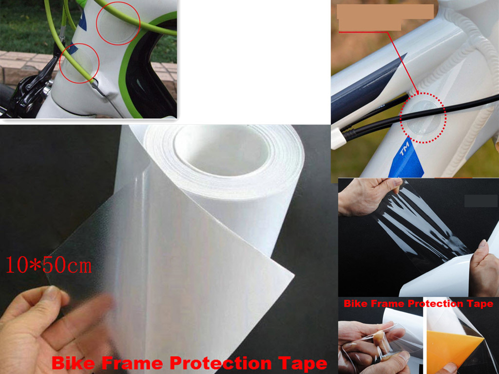 Bike Car Frame Film Protective Tape Anti Scratch Transparent Car Protective Film