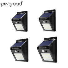 2-10pcs 20 Leds Solar Motion Sensor Lamp Waterproof Garden Decoration Wall Light Outdoor Yard Street Night LED SL004