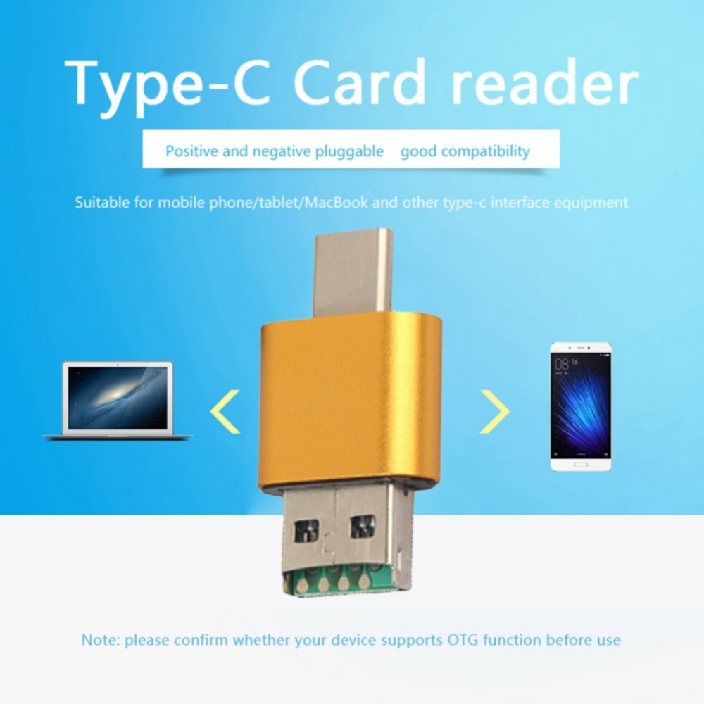 Universal 3 In1 OTG Type-C Card Reader USB 3.0 USB Hub Micro USB Combo To 2 Slot TF SD Type C Card Reader For Smartphone PC