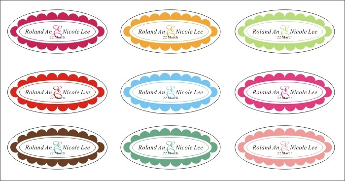 personalized labels and wedding stickerstagslabels in festive party supplies from home garden on aliexpresscom alibaba group