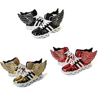 Wings USB Charge Children S Glowing Sneakers With Led Lighting Licht Schoenen Toddler Boys Girls Sports