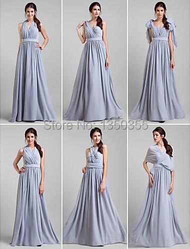 vestido de festa longo Fashion 2015 Long Bridesmaid Dress Convertible Dress  Empire Waist Georgette Long Maid of Honor Dress 08fd505318fc