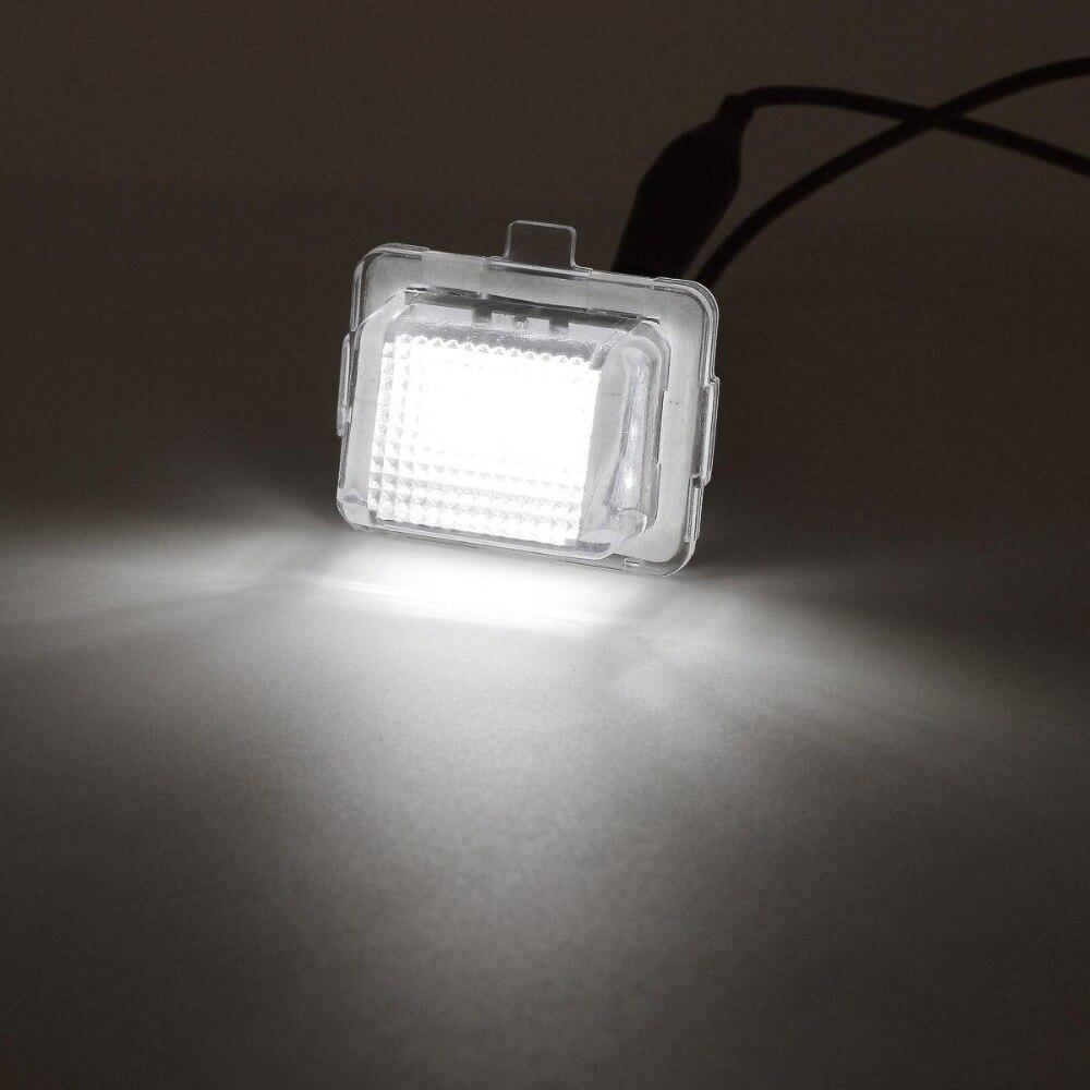 For W204(5D) W221 W212 C216 C207 C E S CL Class Canbus LED Number License Plate Light White 6000K