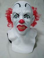Halloween Party Cosplay Lustige Halloween Latex scary clown maske mit rote haare Narr joker gesicht Maske Kostüm kleid