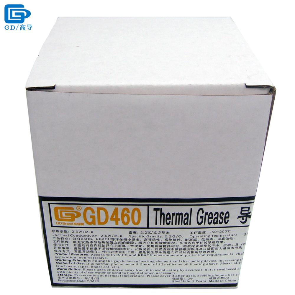 GD Brand Thermal Conductive Grease Paste Silicone Plaster GD460 Heat Sink Compound Net Weight 1000 Grams Silver For LED CN1000 gd brand heat sink compound gd900 thermal conductive grease paste silicone plaster net weight 150 grams high performance br150