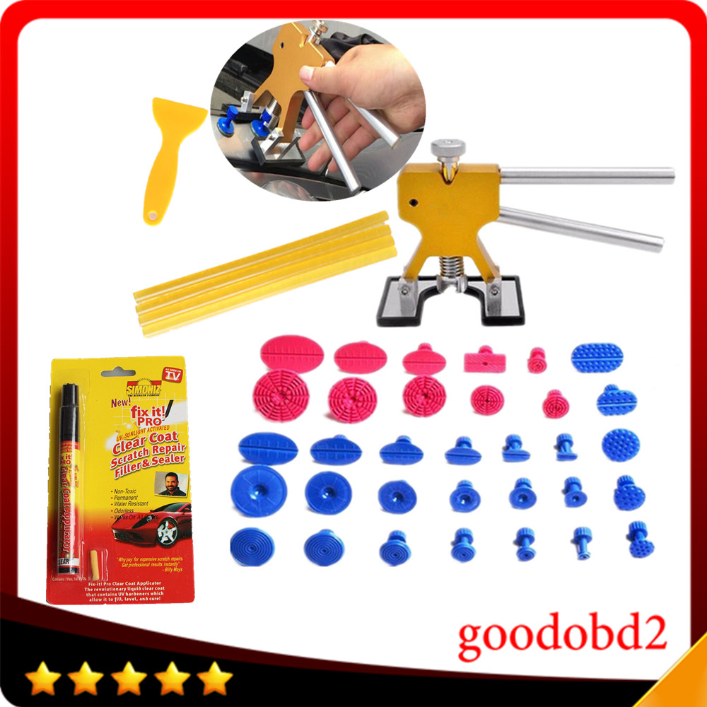 Car PDR Tools Dent Removal Paintless Dent Repair Tool Dent Puller Glue Tabs 33x tab gift