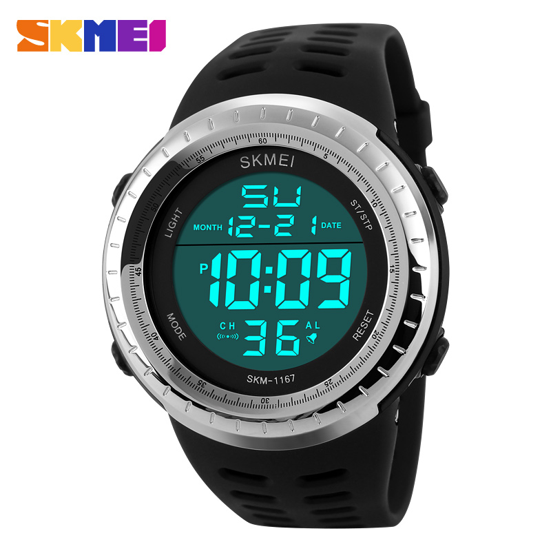 2018 New Outdoor Sports Watches Men LED Digital Watch Multifunction Men's Wristwatches Fashion Big Dial Black Relogio Masculino image