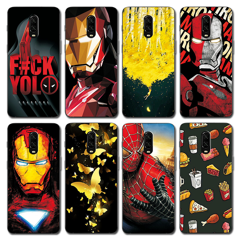Expressive Novelty Avengers Painted Phone Bags For Onplus 6t Case 1+6t Iron Man Silicone Back Cover Case For One Plus 6t A6010 6.4 Inch Phone Bags & Cases Cellphones & Telecommunications