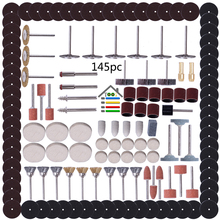 145pc/set Electric Grinder Collet Polishing Burnish Accessories kits Abrasive Tool Sand Paper for Woodwroking Dremel Rotary Tool