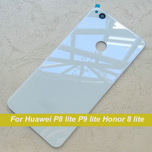 Honor 8 lite Battery Cover Glass Panel Original Back Cover For Huawei P8 lite 2017 P9 lite Rear Housing Replacement Parts New In