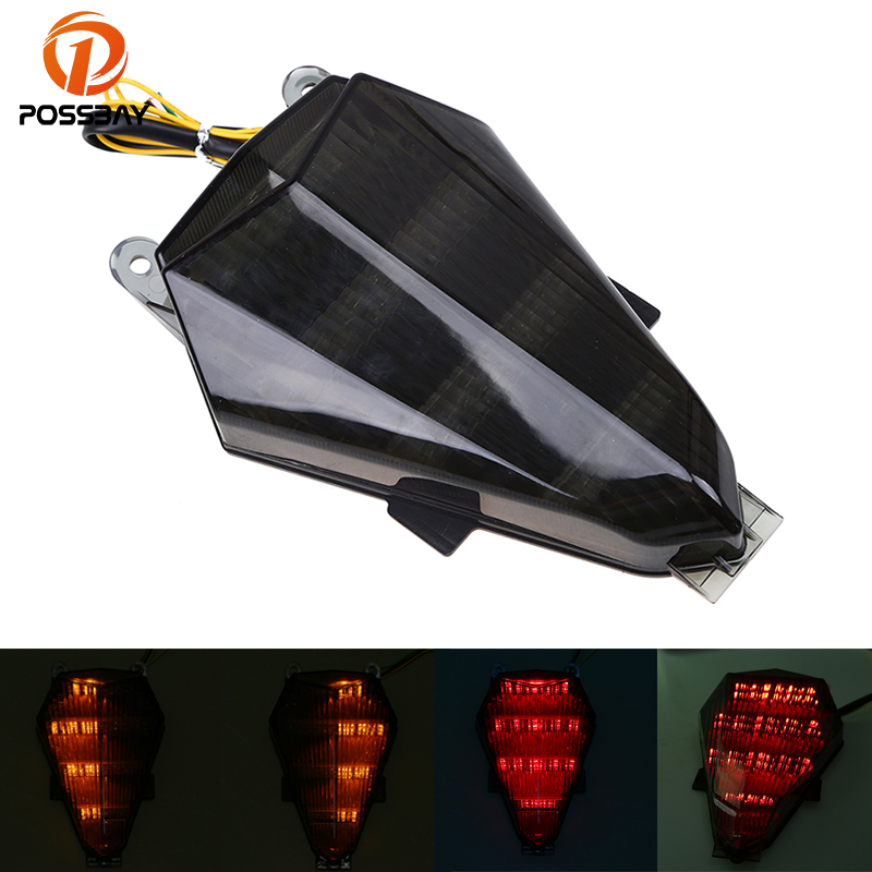 LED Tail Brake Turn Signal Indicator Light For Yamaha YZF-R6 1998-2000 99 Clear