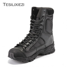 Summer Men Desert Military Tactical Boots Black Airborne Breathable Ultralight Combat Outdoor Climbing Special Shoes