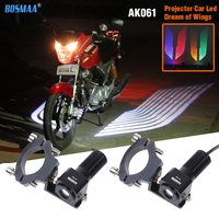 Pair BOSMAA LED motorcycle Welcome Light Angel Wings Laser Bulb Auto Car Door Light For Ducati/Triumph/Yamaha/Honda/BMW/KTM Ect