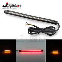 Universal LED Flexible Brake Lights Turn Signal Light Strip Motorcycle License Plate Light Tail Stop Lights