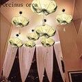 Новый китайский стиль ручная роспись листьев лотоса фонари люстры коридоры ресторанов в китайском стиле Классические тканевые лампы