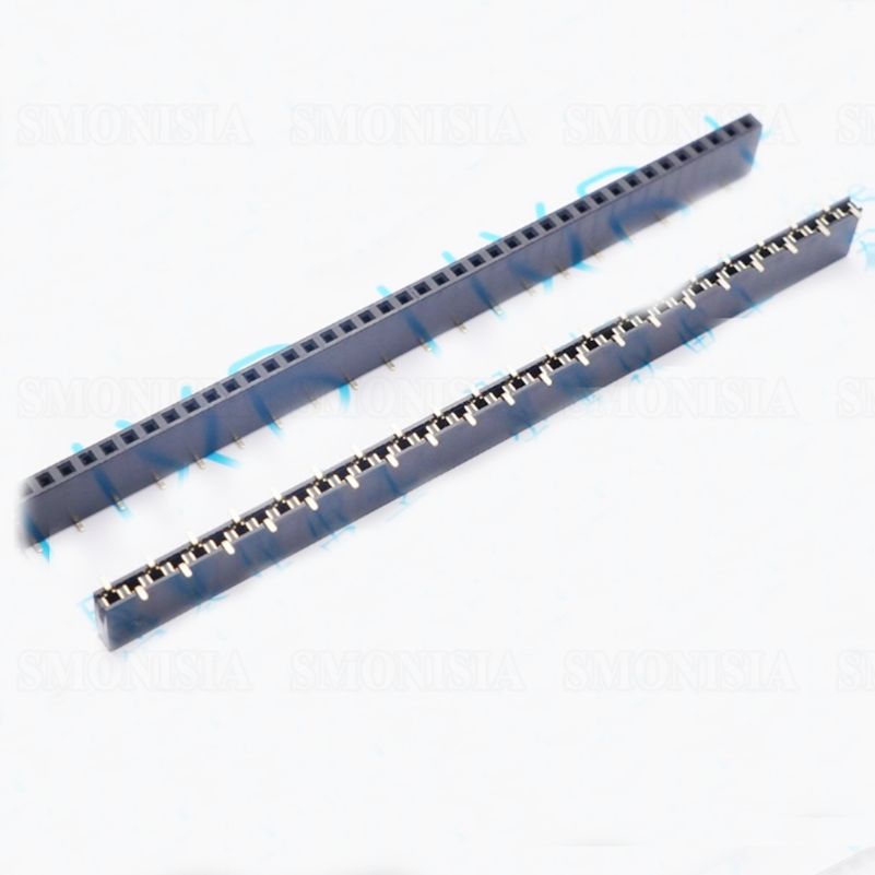2.54mm Female Header SMT 1*40Pin 8.5mm Height Single Row Socket 5pcs 2 54mm pcb female header dual row pin header smd smt 2x2 4 pin 6 8 10 12 14 16 18 20 24 26 30 40 50 60 80 pin