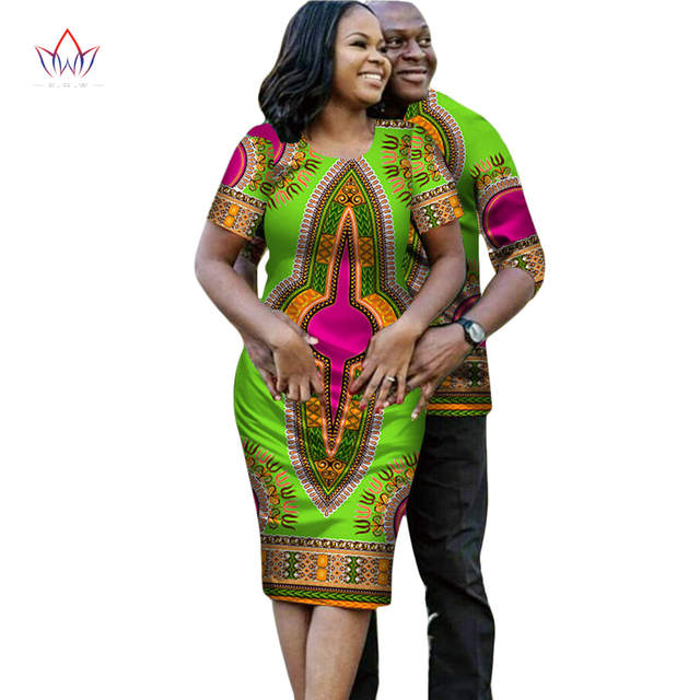 a0fa94ad224 Online Shop African Dresses for Women Couple Clothes for Lovers Short  Sleeve Dashiki Men African Dresses for Women in African Clothing WYQ19